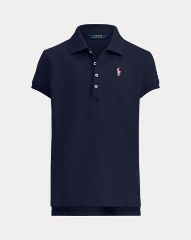Girl's Monogram Polo Shirt