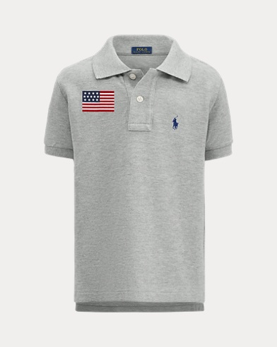 Boy's Bear Polo Shirt