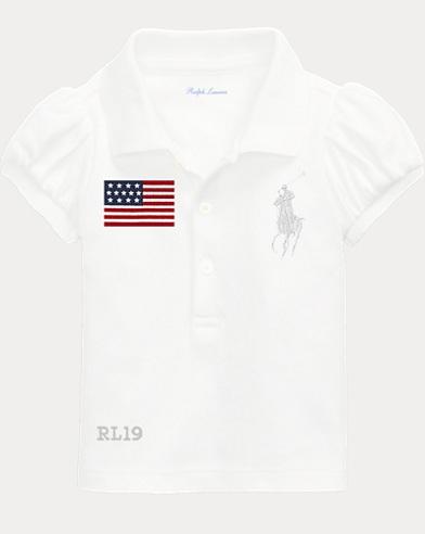 Baby Boy Flag Polo Shirt