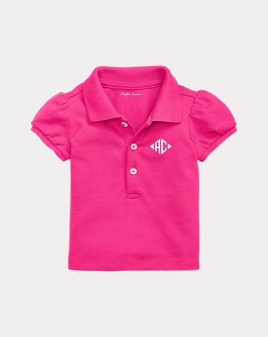 Baby Girl Monogram Polo Shirt