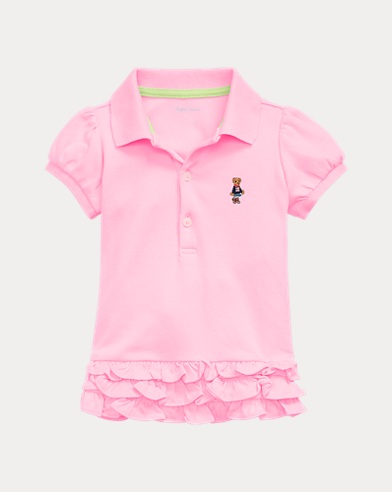 Baby Girl Bear Polo Dress