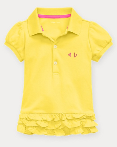 Baby Girl Monogram Polo Dress
